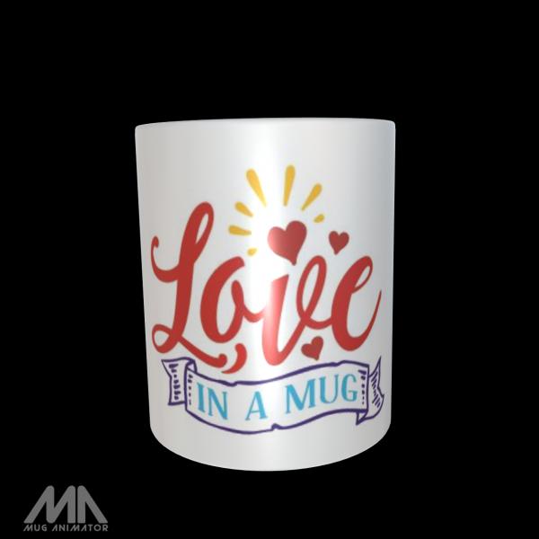 "Tasse bedruckt ""Love in a Mug"""