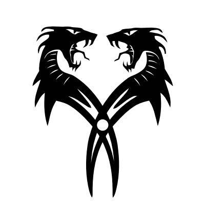 Wandtattoo Drachenzwillinge