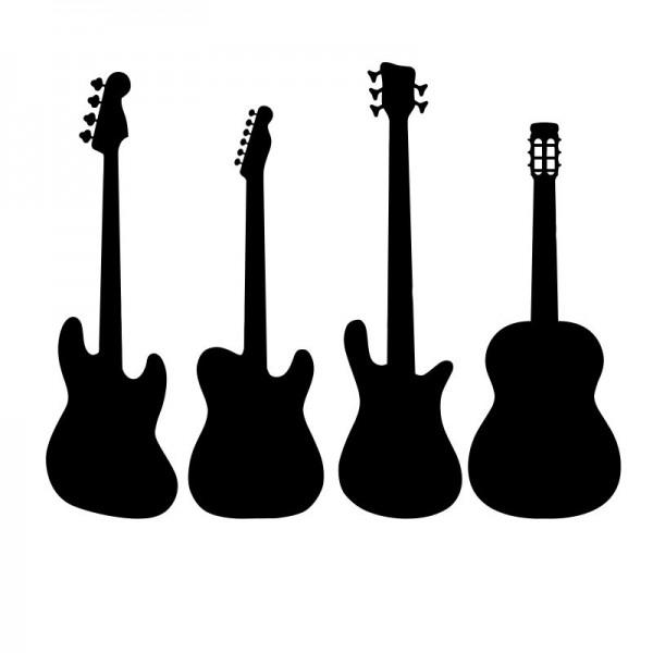 Wandtattoo Gitarren