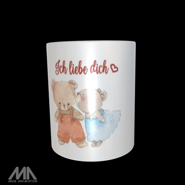 "Tasse bedruckt ""Ich liebe dich Bären"""