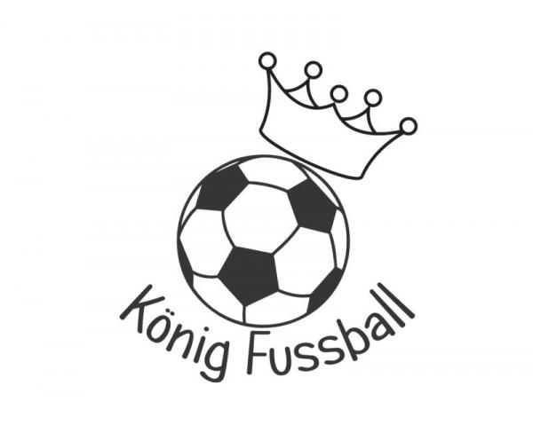 Wandtattoo König Fussball