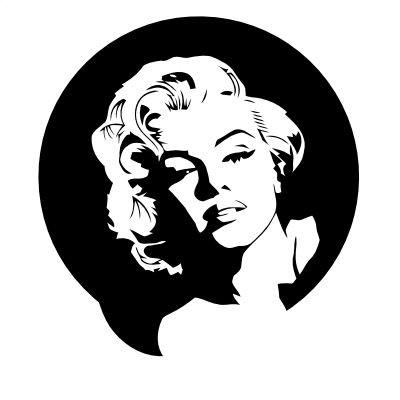 Wandtattoo Marilyn Monroe Portrait