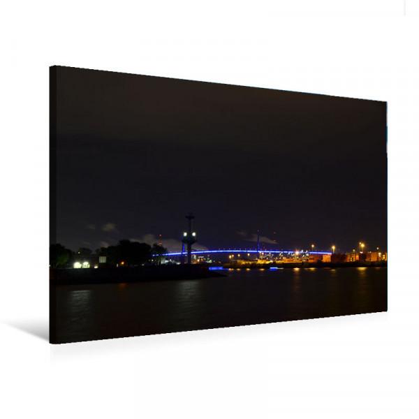 """Leinwandbild """"Köhlbrandbrücke Hamburg BluePort"""""""
