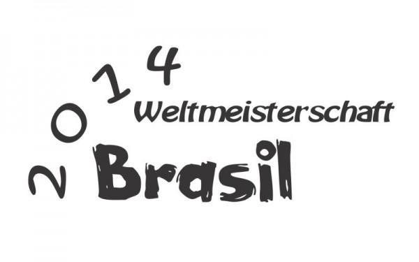 Wandtattoo Weltmeisterschaft 2014 Brasil