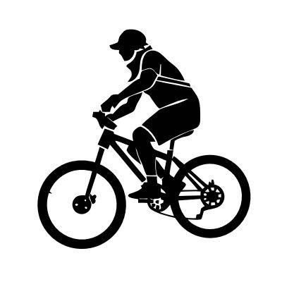Wandtattoo Fahrradfahrer