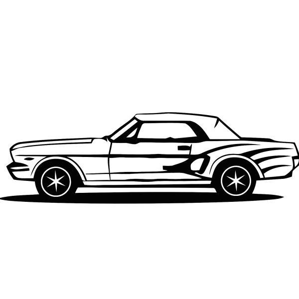 Wandtattoo Mustang