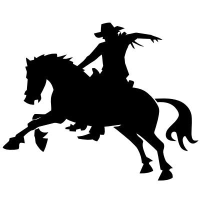 Wandtattoo Pferd & Cowboy