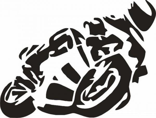 Wandtattoo Motorrad Sportler