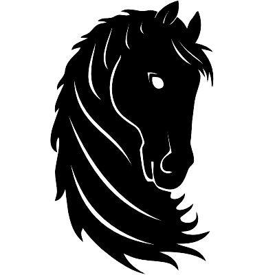 Wandtattoo Pferdekopf