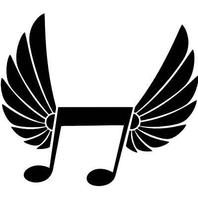 Wandtattoo Note mit Flügeln