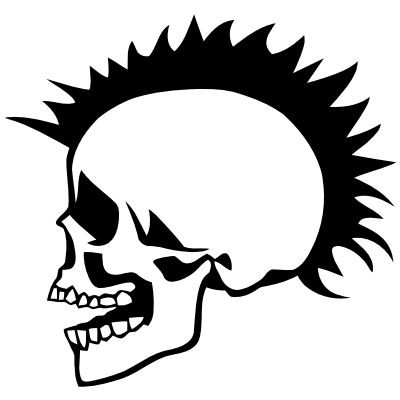 Wandtattoo Punker Skull