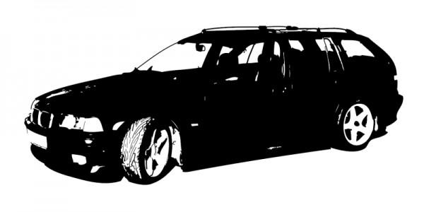 Wandtattoo BMW E36