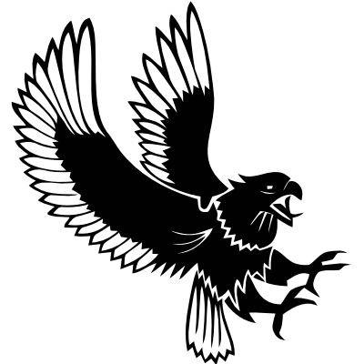 Wandtattoo Adler jagend