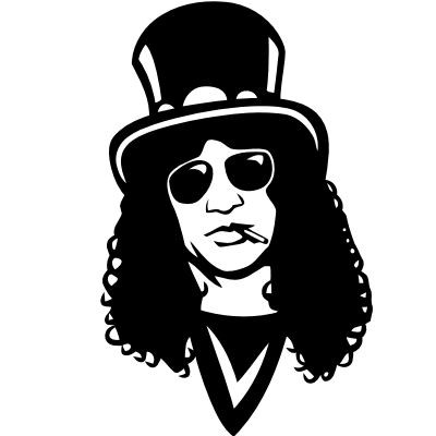 Wandtattoo Slash Portrait (Guns N' Roses)
