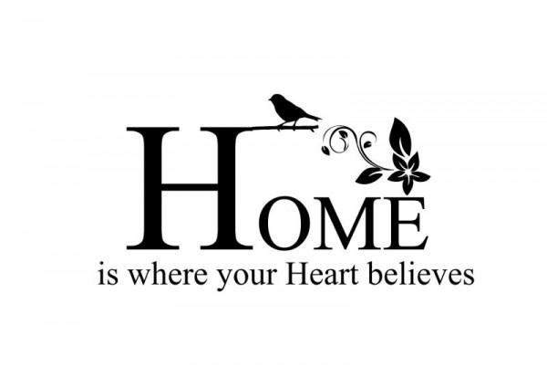 Wandtattoo Home...