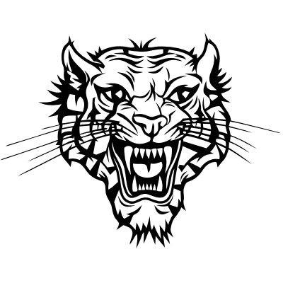 Wandtattoo Tigerkopf