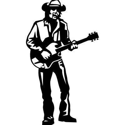 Wandtattoo Gitarrist