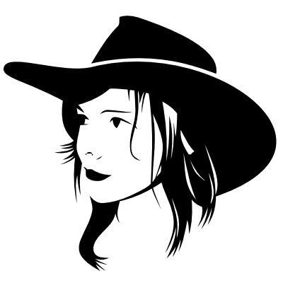 Wandtattoo Cowgirl