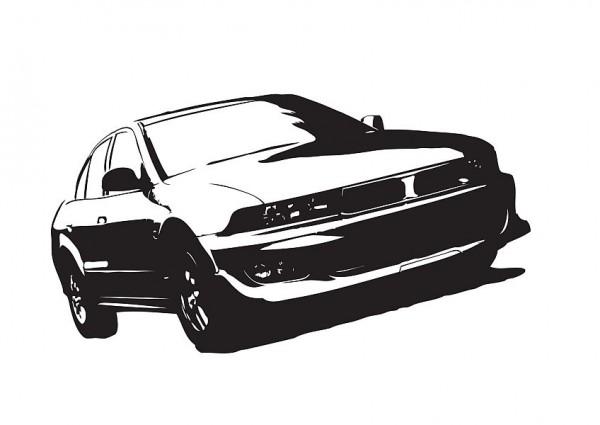 Wandtattoo Mitsubishi Galant Limo