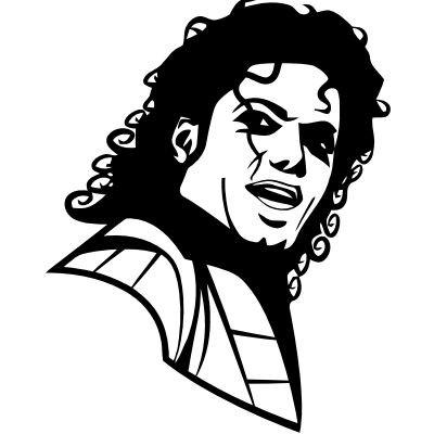 Wandtattoo Michael Jackson Portrait