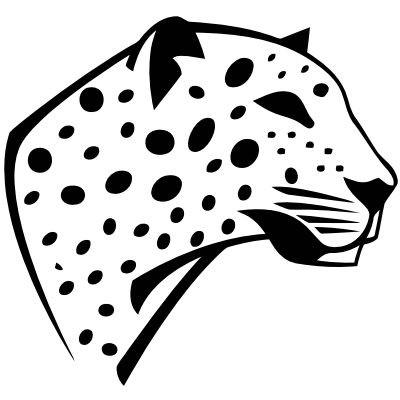 Wandtattoo Leopardenkopf