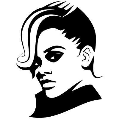 Wandtattoo Rihanna Portrait