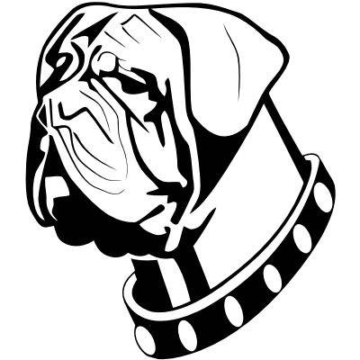 Wandtattoo Hundekopf 2