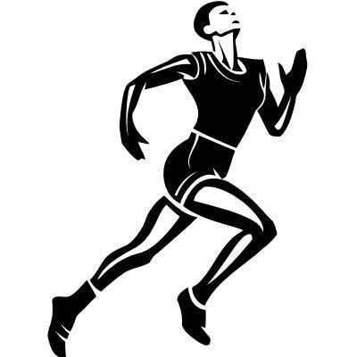 Wandtattoo Läufer