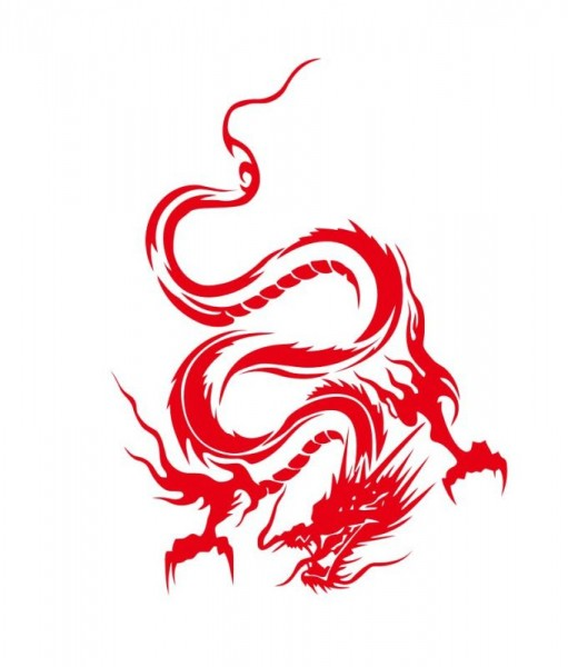 Wandtattoo Red Dragon