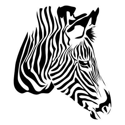Wandtattoo Zebrakopf