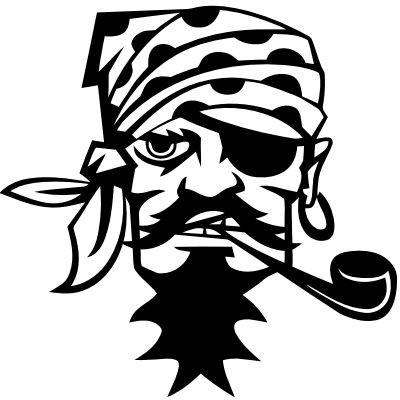Wandtattoo Pirat mit Pfeife