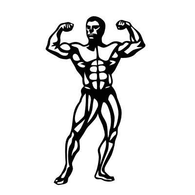 Wandtattoo Bodybuilder