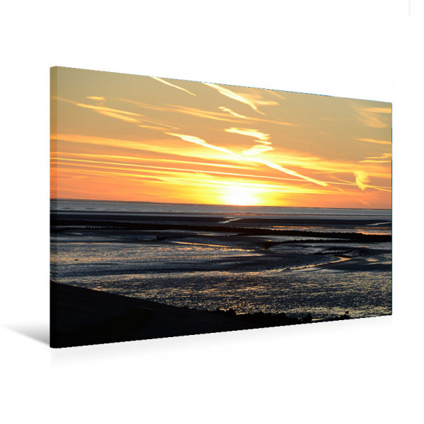 "Leinwandbild ""Wattenmeer im Sonnenuntergang"""
