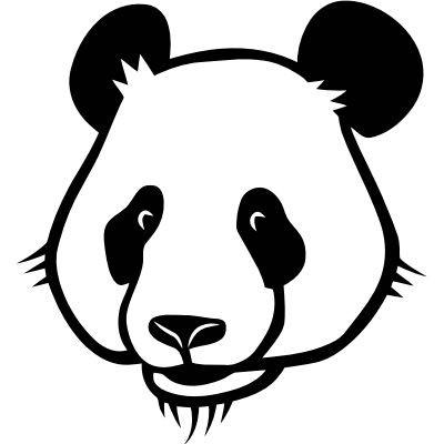 Wandtattoo Pandakopf