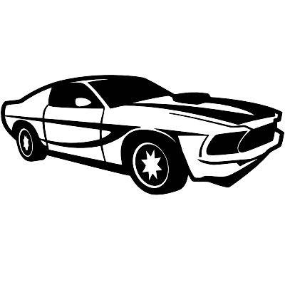 Wandtattoo Mustang 2