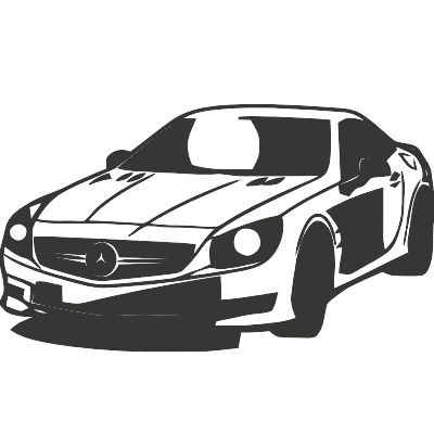 Wandtattoo Mercedes