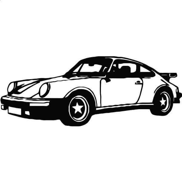 Wandtattoo Porsche 911