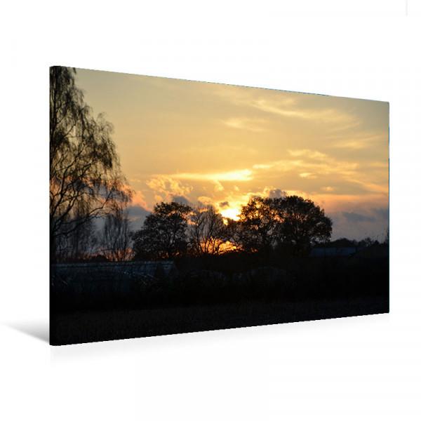 "Leinwandbild ""Sonnenuntergang im Herbst"""