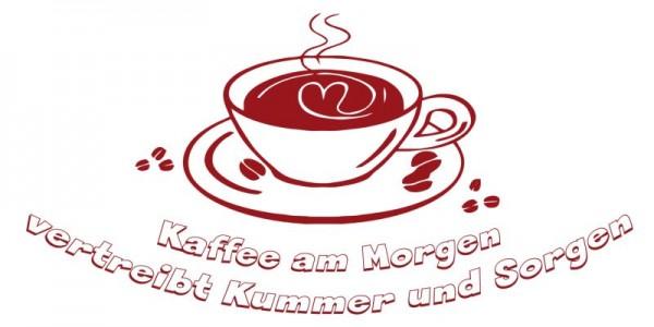 Wandtattoo Kaffee am Morgen...