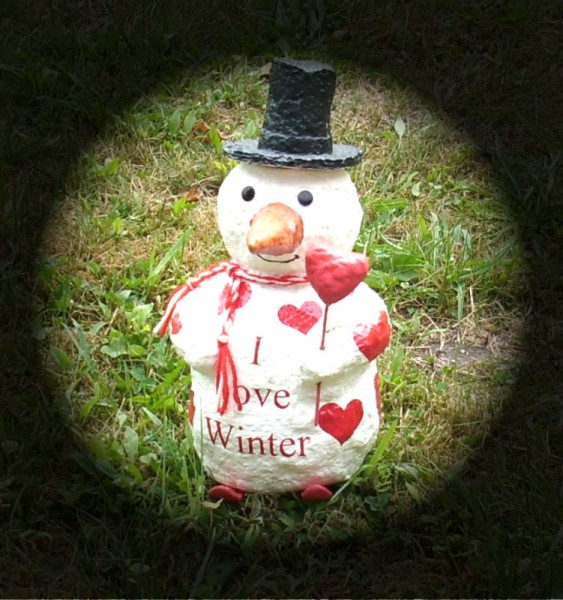 Dekofigur Schneemann Modell I love Winter