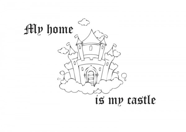 Wandtattoo My home is my castle