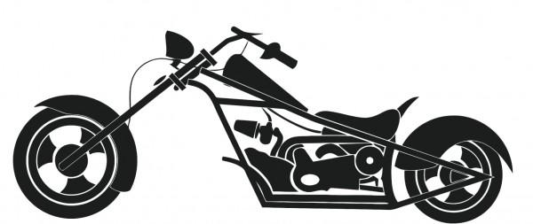 Wandtattoo Motorrad Chopper