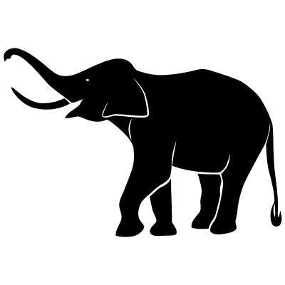 Wandtattoo Elefant 2
