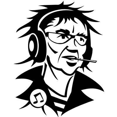 Wandtattoo Mann mit Kopfhörer