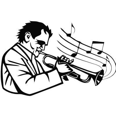 Wandtattoo Trompeter