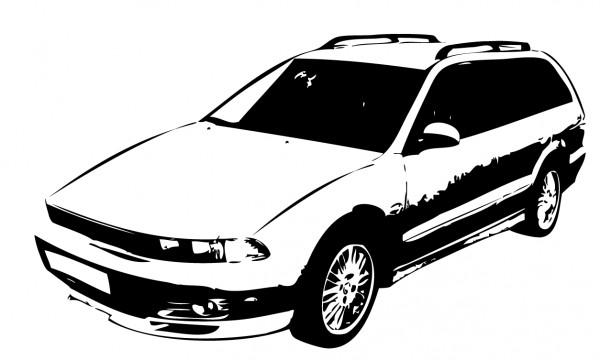 Wandtattoo Mitsubishi Galant Kombi